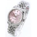 ロレックス Ref.178274 デイトジャスト WGベゼル ダイヤインデックス 5連ブレス ピンク レディース
