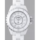 シャネル CHANEL J12 H1628 33mm ホワイトセラミックブレス 12Pダイヤ  ホワイト