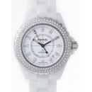 シャネル CHANEL J12 zH1629 38mm ホワイトセラミックブレス 12Pダイヤ ベゼルダイヤアフター ホワイト