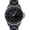 シャネル CHANEL J12 zH2012 42mm GMT ブラックセラミックブレス  ブラック