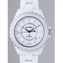 シャネル CHANEL J12 zH2013 42mm ホワイトセラミックブレス 12Pダイヤ ベゼルダイヤ ホワイト