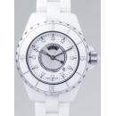 シャネル CHANEL J12 zH2123 33mm ホワイトセラミックブレス 12Pダイヤ 文字盤センターダイヤ ホワイト/センターダイヤ