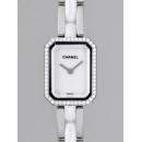 シャネル CHANEL プルミエール セラミック H2132 ケースダイヤ ホワイト