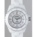 シャネル CHANEL J12 H2423 38mm ホワイトセラミックブレス 8Pダイヤ  ホワイトシェル