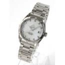 オメガ シーマスター アクアテラ 2505.75 ダイヤモンド コーアクシャル クロノメーター ホワイトシェル ボーイズ