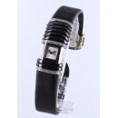 カルティエ デクラレーション SM WG金無垢 ダイヤモンド サテンレザー ブラック/シルバー レディース WT000550