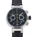 ルイヴィトン タンブール クロノグラフ ヴォレⅡ Q102B0 ブラック USED 36525