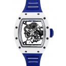 リシャールミル RM055 ジャパン ブルー ATZ/NTPT スケルトン文字盤 手巻き ラバー
