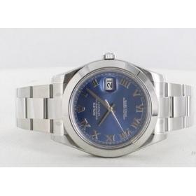 ロレックス デイトジャストII Ref.116300 WGベゼル ライトブルー メンズ