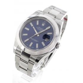 ロレックス デイトジャストII Ref.116300 WGベゼル ブルー メンズ