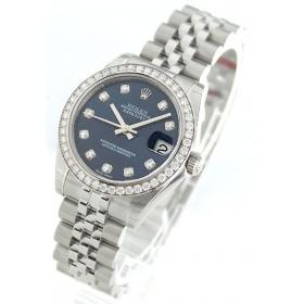 ロレックス デイトジャスト Ref.178384G ダイヤモンド 5連ブレス ブルー レディース