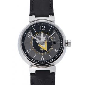 ルイヴィトン タンブールVVV GMT Q1D310 グレー USED 33911